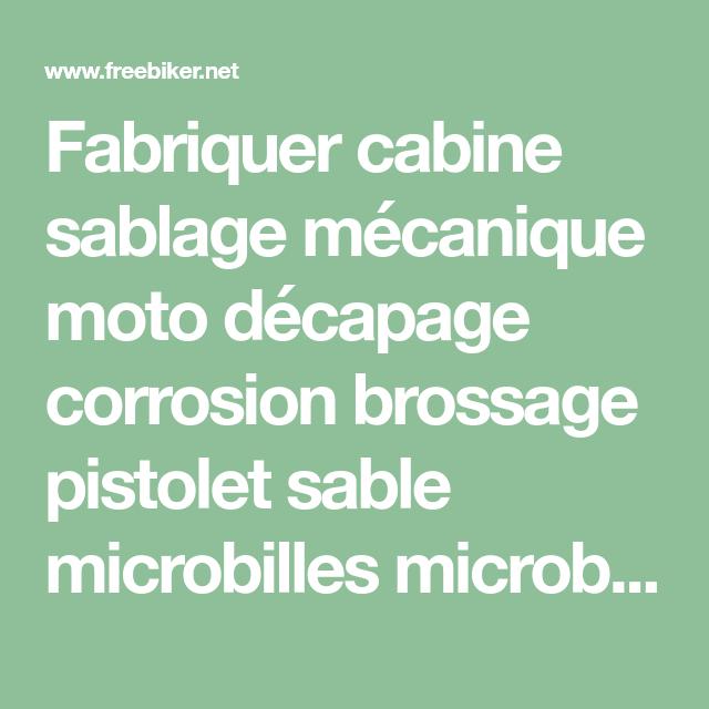 Fabriquer Cabine Sablage Mécanique Moto Décapage Corrosion