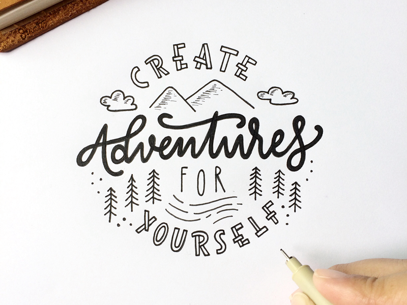 Create Adventures For Yourself Bullet Journal Quotes Page Things To Draw Quotes Bullet Journal Quote