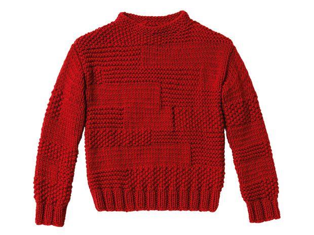 Strickmuster: Perlmuster Pullover stricken eine Anleitung