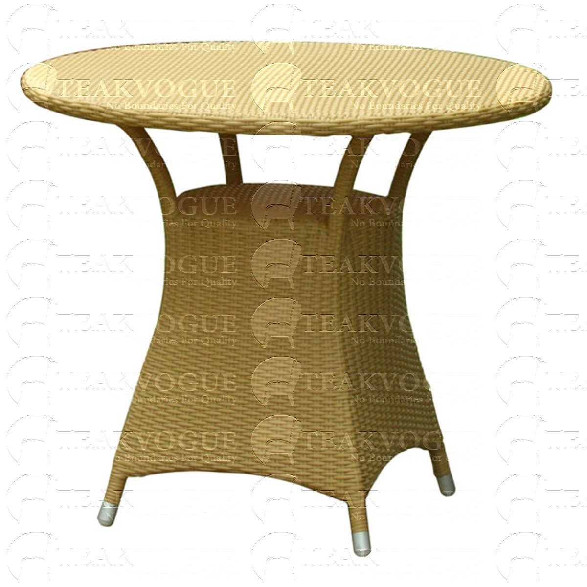 Kuangsi Round Dining Table Outdoor 4 Seater Dining Table