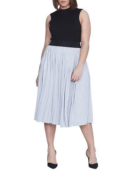 Jersey Pleated Skirt   Elvi HOF