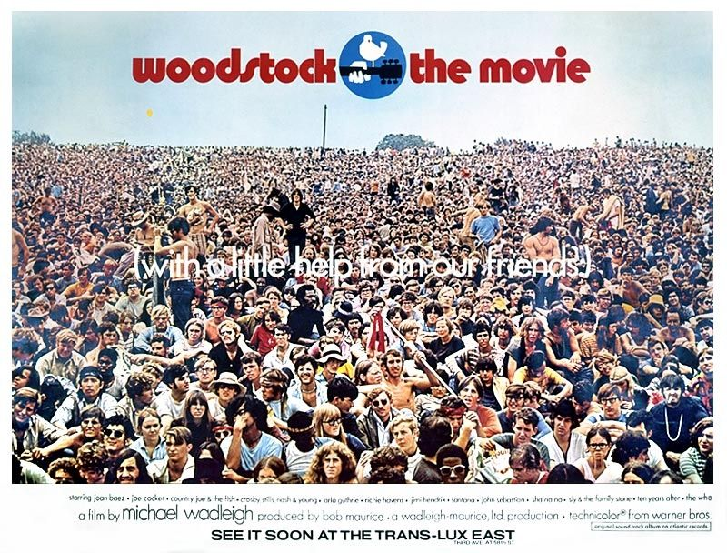 1969 poster | Warners Woodstock 1969 Poster