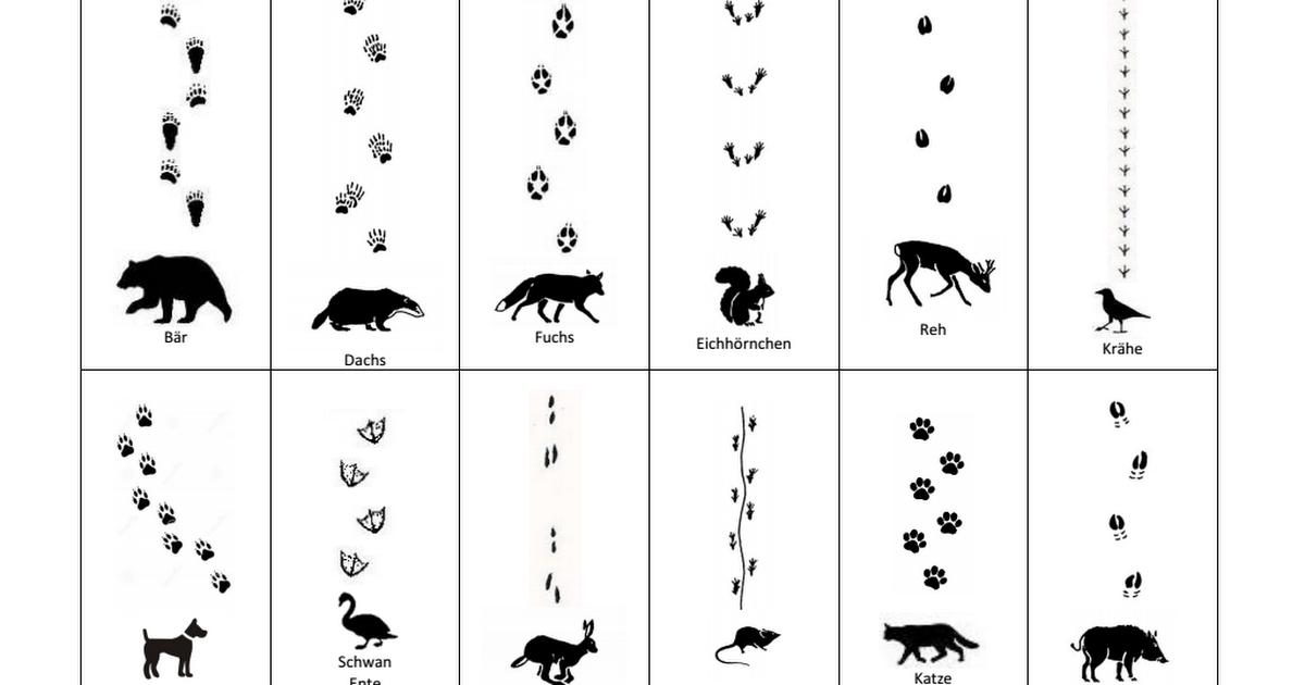 Guck nicht über die Mauer Spuren im Schnee einfach.pdf | für Kinder ...