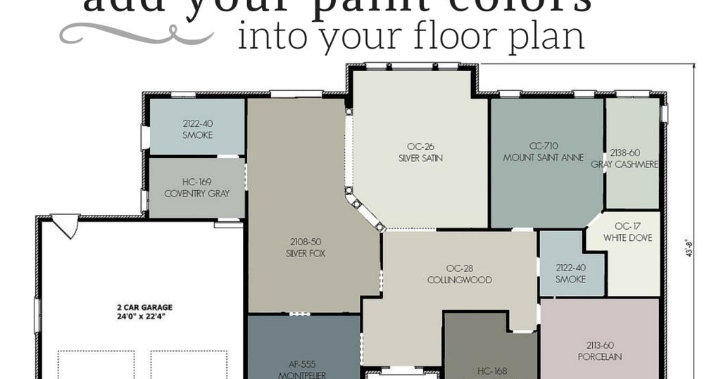 Floor Plan Color Scheme | House color schemes, Cozy house ...