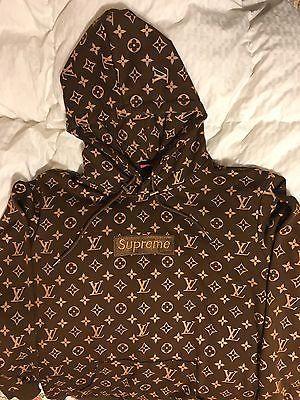051625439 Supreme x Louis Vuitton Collaboration box logo hoodies | FASHION in ...