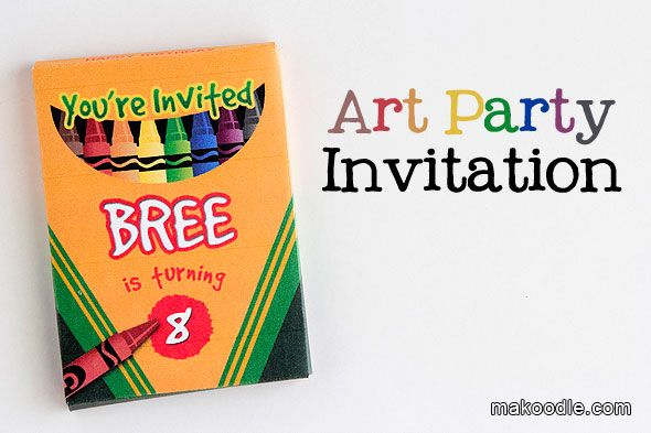 Ive Been Having Fun Preparing For My Daughters Art Themed Birthday - Paint party invitation template free