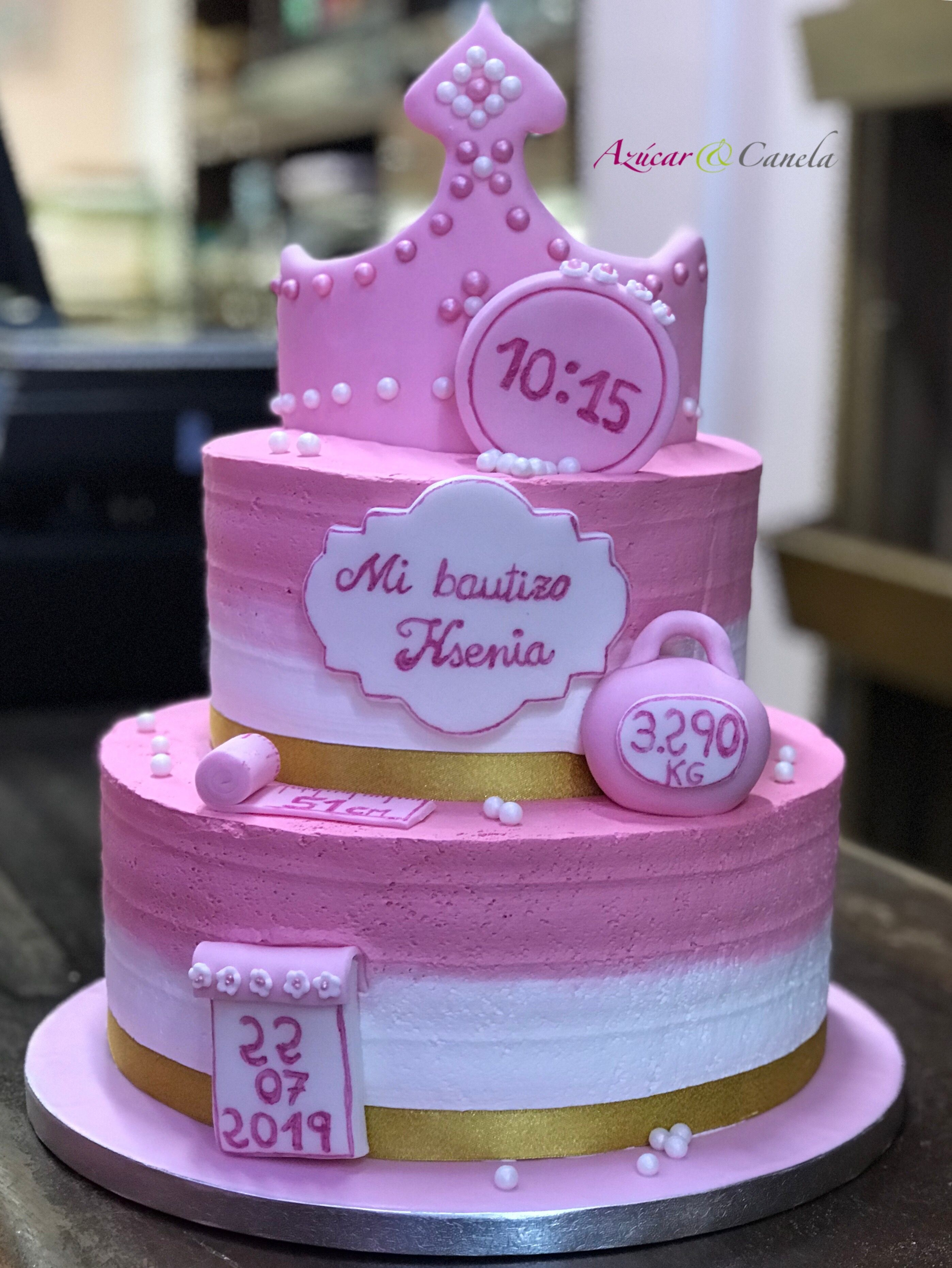 Tarta Tradicional Personalizada De Bautizo Y Baby Shower Azúcar Canela Desserts Cake 10 Things