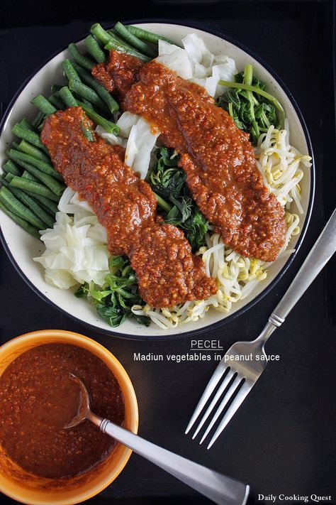 Pecel Madiun Vegetables In Peanut Sauce Resep Resep Masakan Indonesia Resep Makanan Sehat Makanan Sehat
