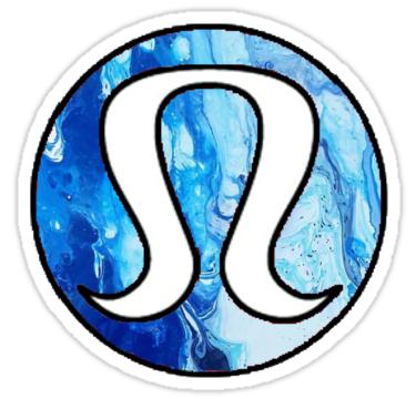 Lululemon Blue Marble Stickers By Hannahj 33 Redbubble Marble Sticker Mermaid Wallpapers Lululemon