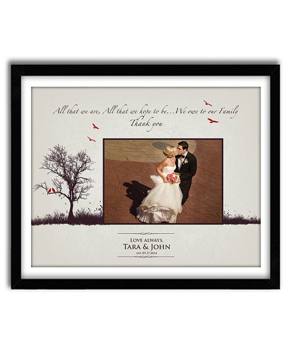Wedding Gift Parents For Parents Of Bride And Groom Thank You Mom And Dad Wedding Gifts For Bride And Groom Wedding Gifts For Parents Wedding Thank You Gifts