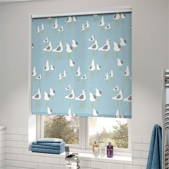 Splash Gulls Seaside Blue Roller Blind. Splash Gulls Seaside Blue Roller Blind   Blue roller blinds  Gulls