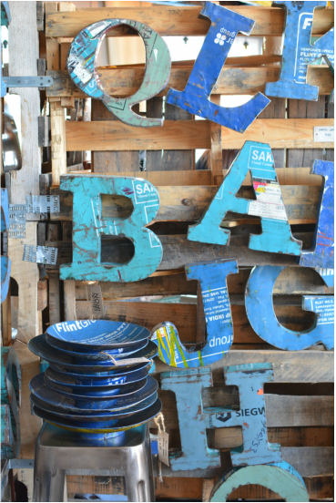 Reclaimed Metal Letters Captivating Letters Made Out Of Reclaimed Metal Cans Fun And Original Gift 2017
