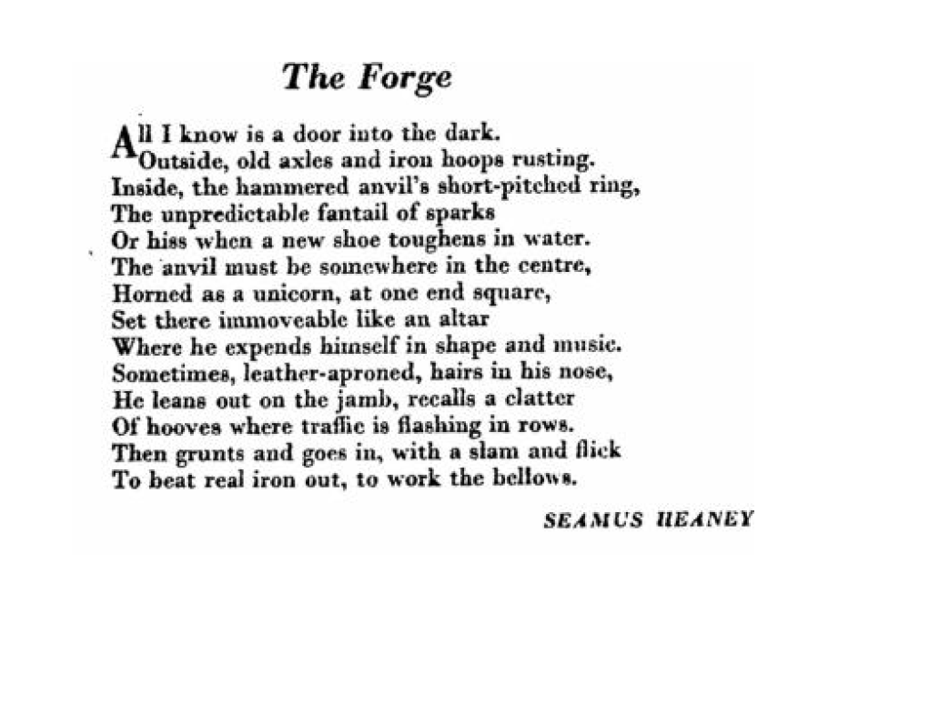Atmospheric Piece By Seamus Heaney That Captures A World Almost Lost
