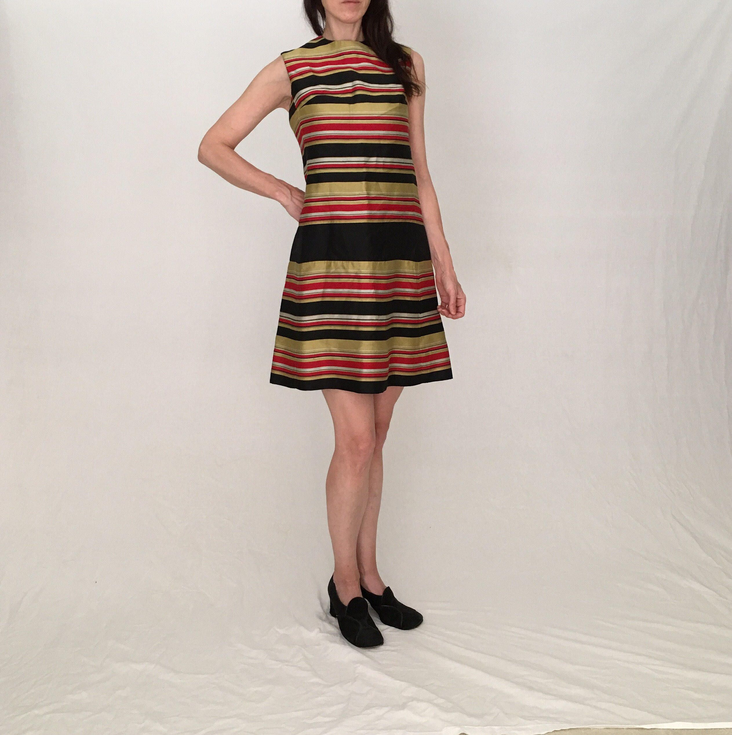Vintage metallic gold dress 60s Dress women XS red black mod mini 1960s  dress sleeveless red party dress scooter holiday special occasion by  MadCrushVintage ... 00c9aa7c9
