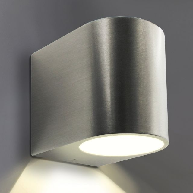 LED Wandleuchte, Wandlampe, Außenleuchte, Aluminium, 1 Flammig, Edelstahl  Geb. Awesome Design