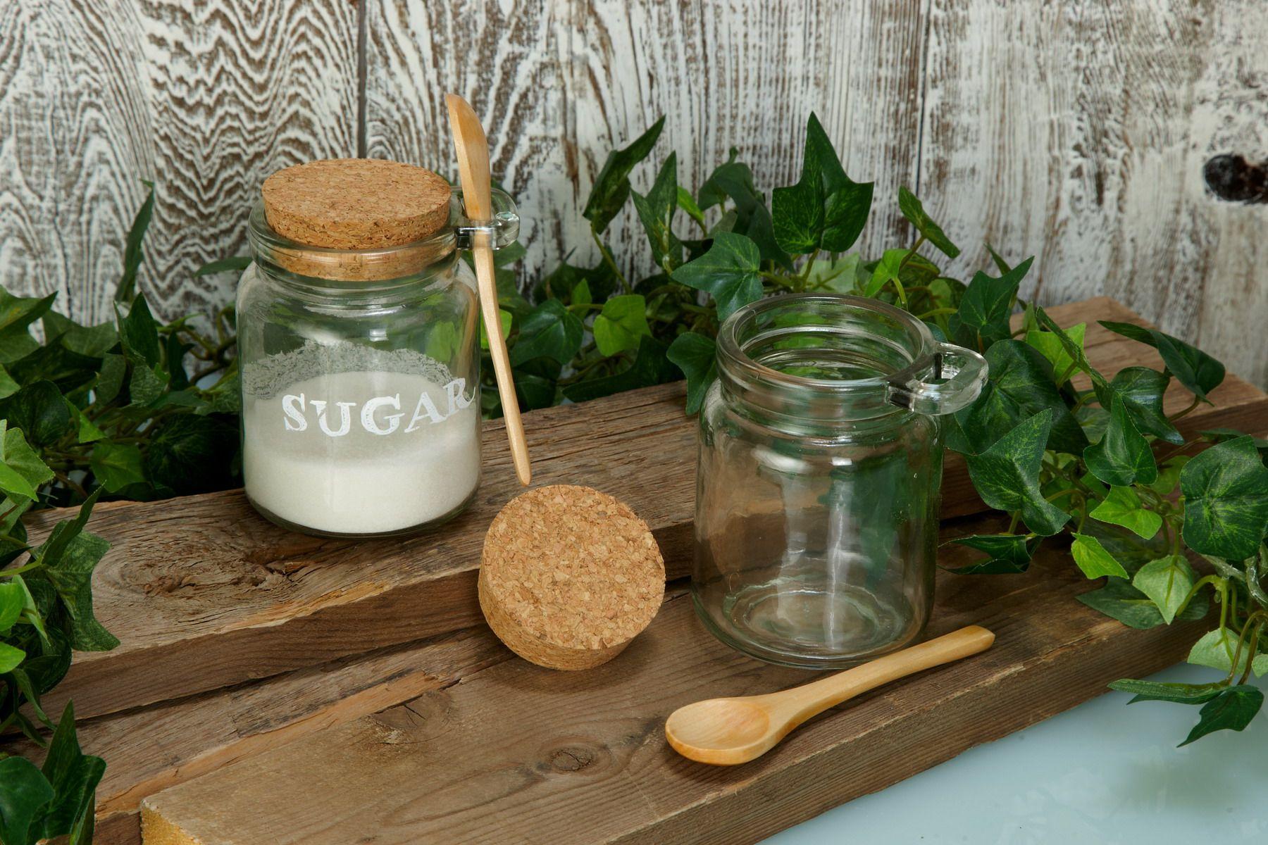 Glass Favor Jar with Spoon & Cork 8.5oz