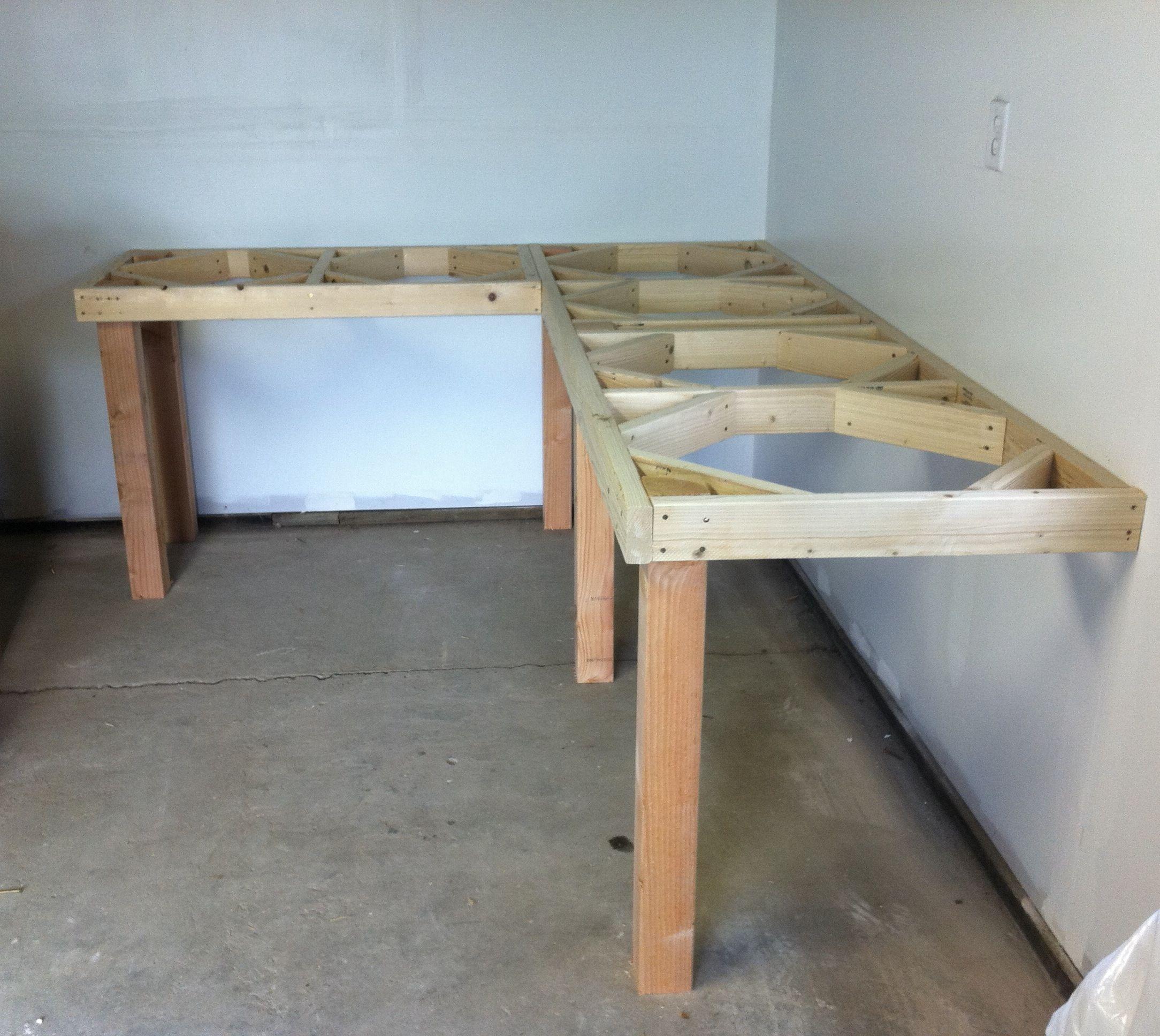 2x4 Vs 2x6 Garage Walls: Garage Corner Workbench - Google Search