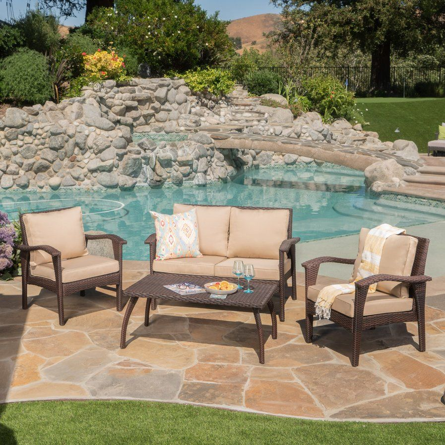 Guilford 4 Piece Deep Seating Group with Cushion Patio