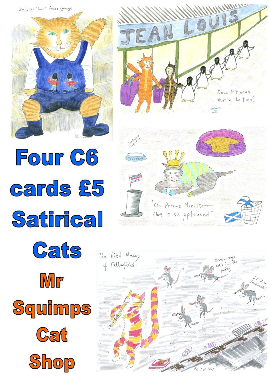 Pack four c6 cards ginger nuts satirical cats small blank pack four c6 cards ginger nuts satirical cats small blank greetings cards printondemand matt finish kristyandbryce Image collections