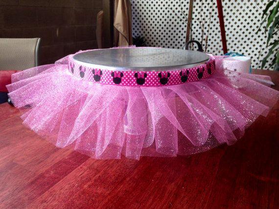 Minnie Mouse Princess Cake Stand Tutu Tutu by BlueGlamourBoutique, $20.00