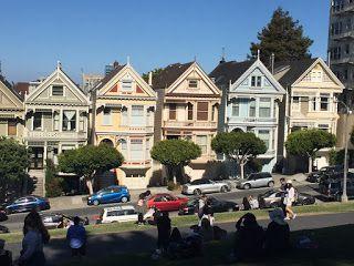 Aterrizando Por Las Calles De San Francisco Alamo Square Y La San Francisco Calle Santos