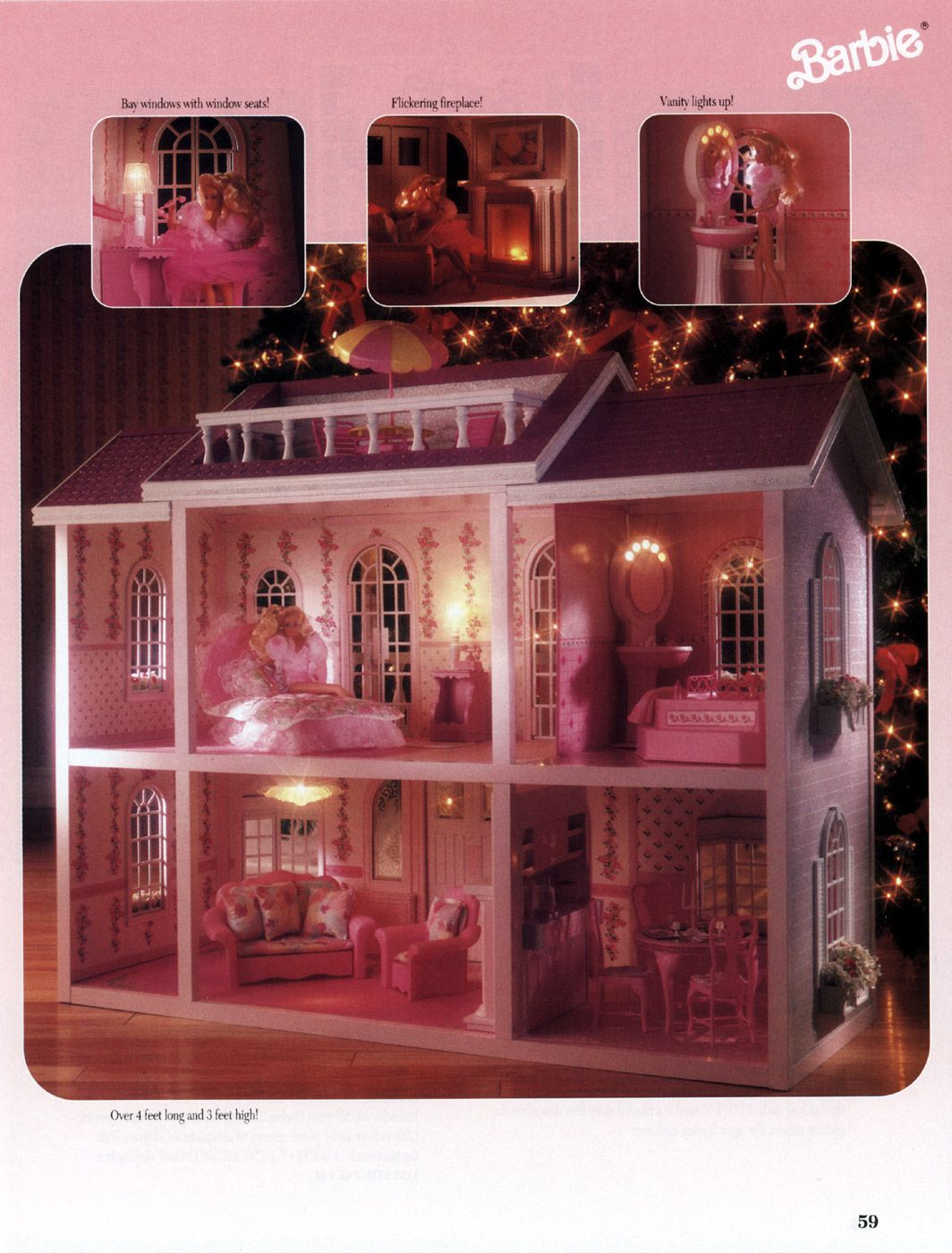 Barbie Küche 90er Barbie Magical Mansion With Working Lights By Mattel 1991