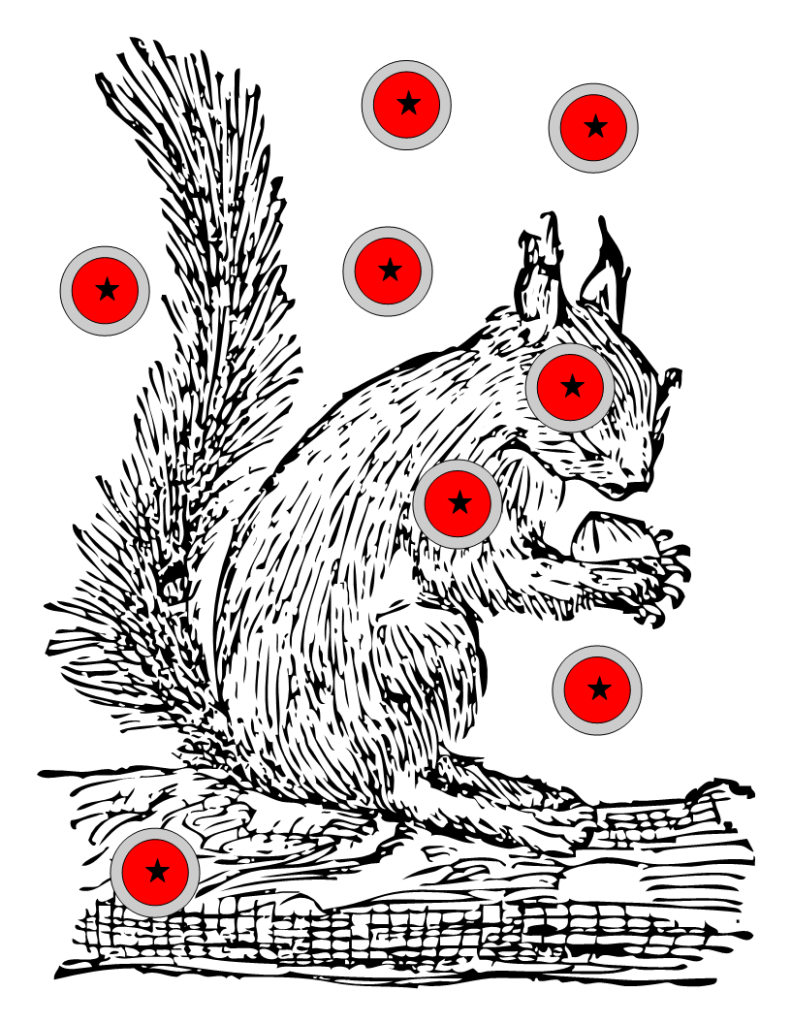 Ambitious image regarding printable squirrel target