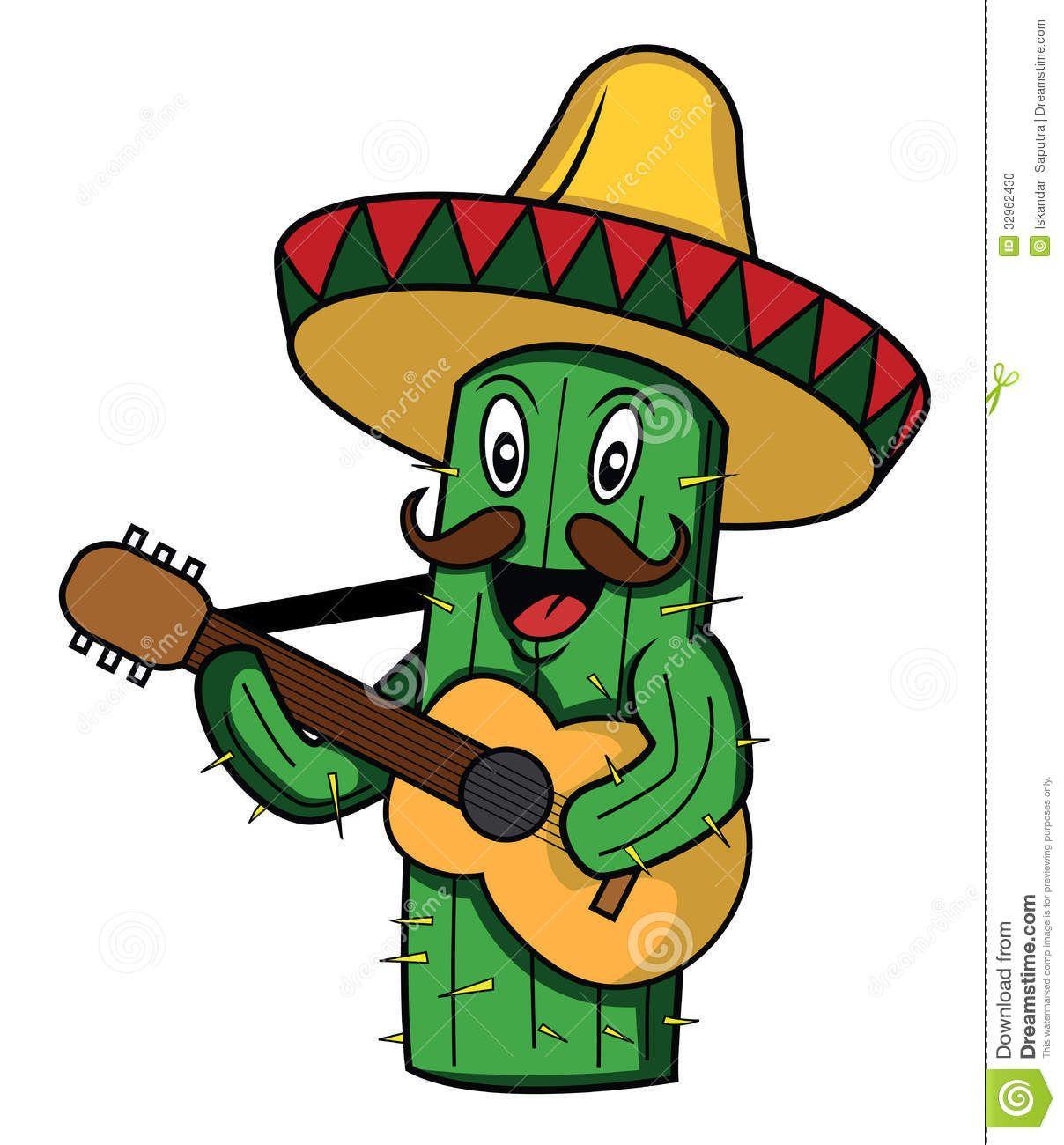 1208x1300 Cactus Clipart Mexican Guitar Vinyl Stickers Laptop Cactus Cartoon Print Vinyl Stickers