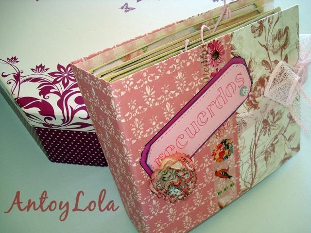 Album de scrap con sobres para guardar fotos y recuerdos manualidades minis and scrap - Manualidades album de fotos casero ...