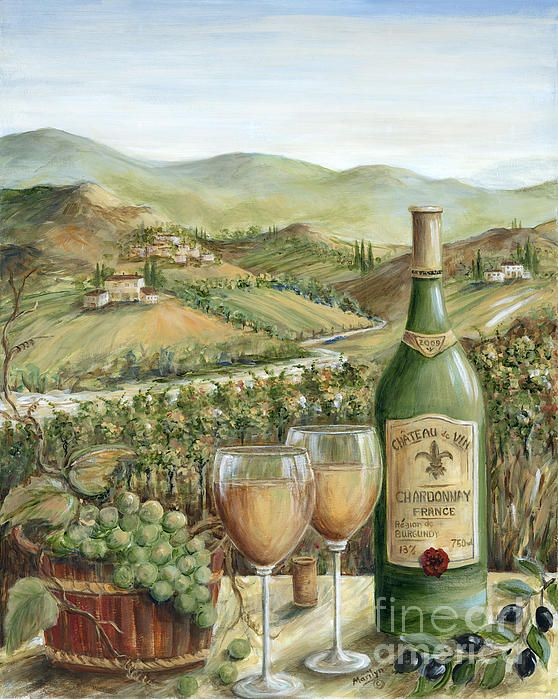 White Wine Lovers | Painting - Acrylics On Masonite by Marilyn Dunlap with Pin-It-Button on FineArtAmerica