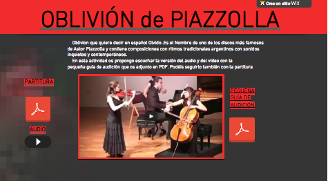 El Lenguaje Musical de Fátima: OBLIVIÓN de ASTOR PIAZZOLLA