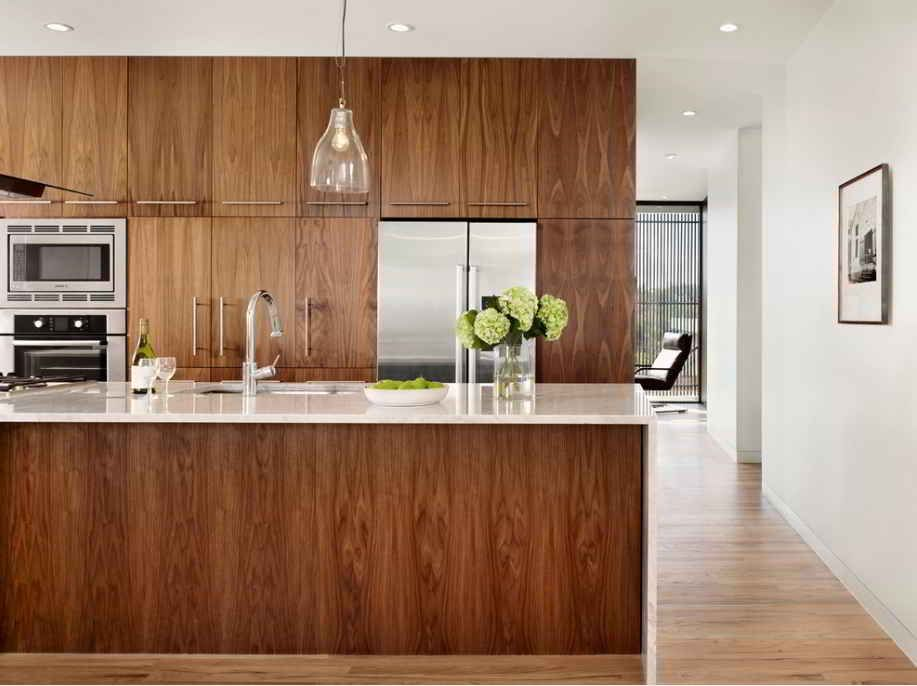 Contemporary walnut kitchen cabinets kitchen pinterest for Walnut kitchen designs