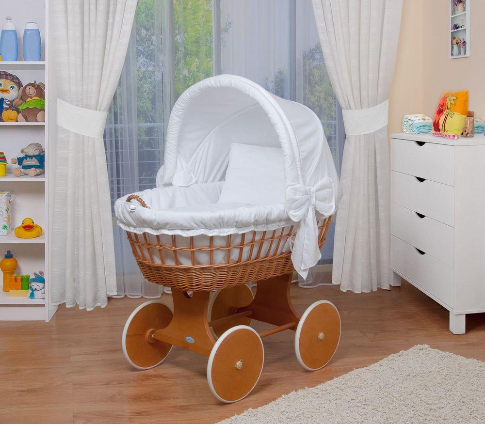 WALDIN Baby BollerwagenStubenwagen XXL NEU Weiss