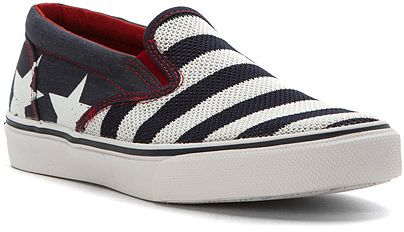Excellent Fashion men sperry striper so stars stripes loafers