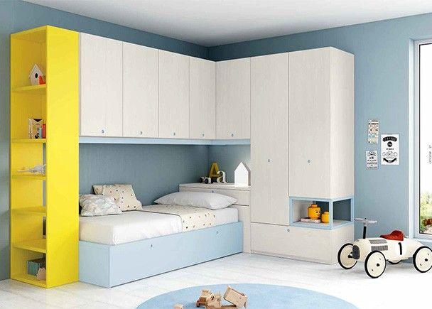Habitaci n infantil con cama nido armarios y altillo - Habitacion infantil cama nido ...
