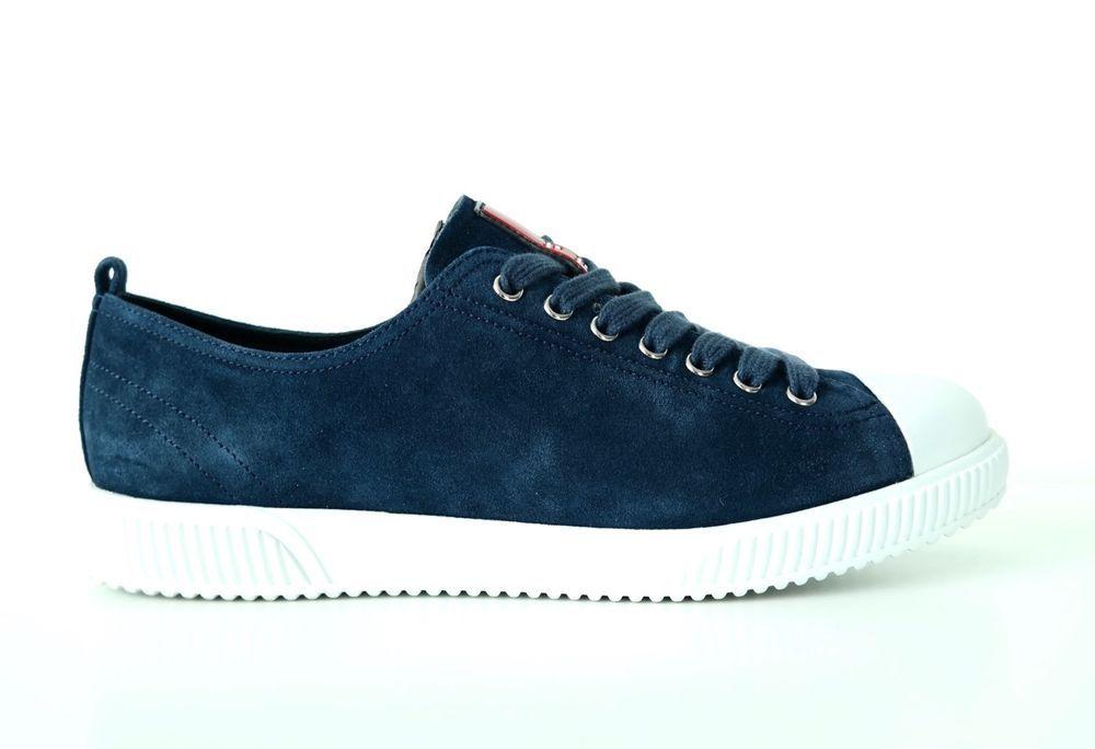 PRADA Men's Sneakers Shoes Suede Scamosciato Oltremare Size 7US NIB #PRADA #FashionSneakers