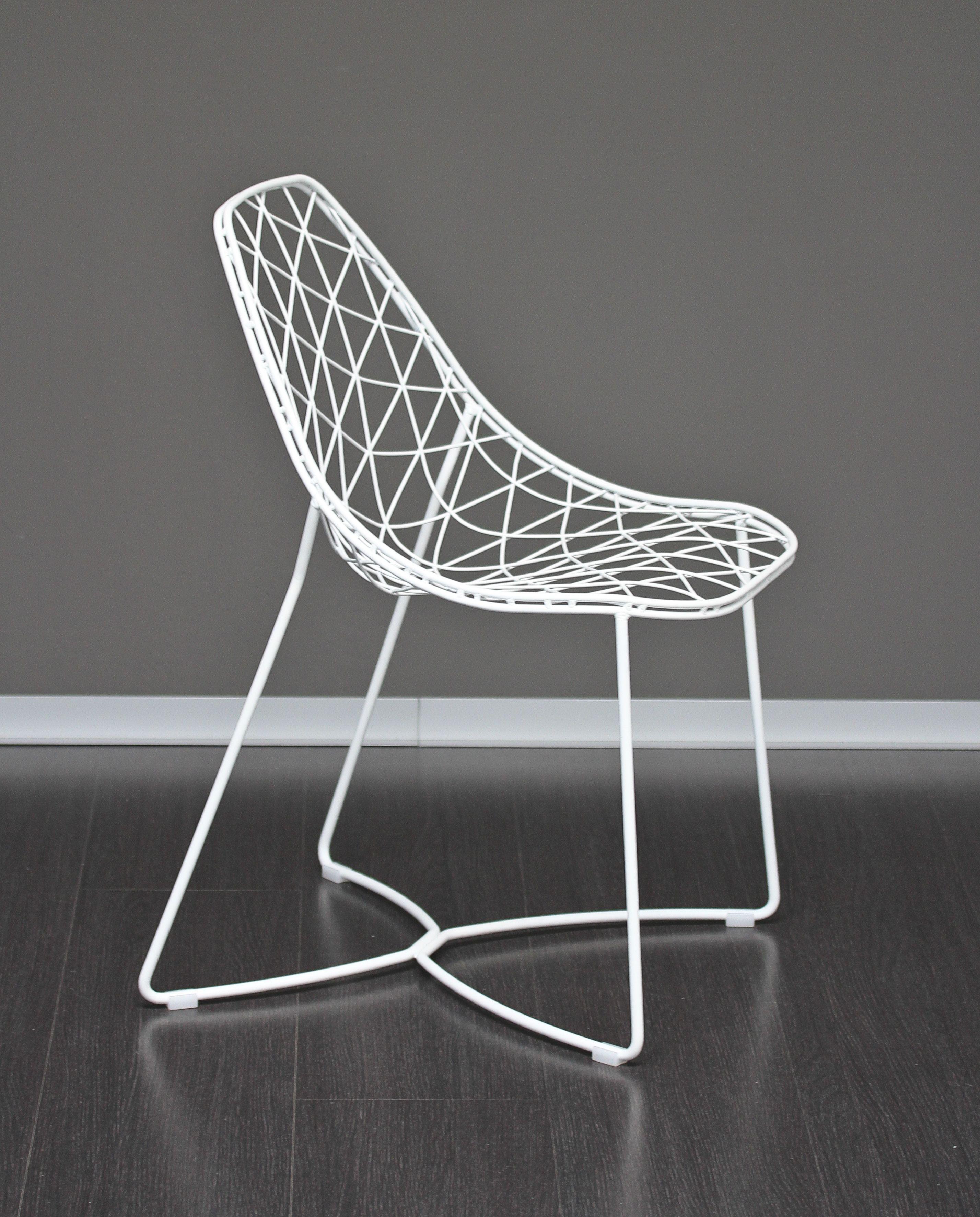 Stuhl Weiss Metall Stuhl Metall Mobel Landhausstil Metallstuhle