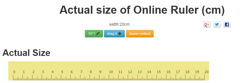 online ruler | Online Ruler Actual Size | Pinterest | In and Online