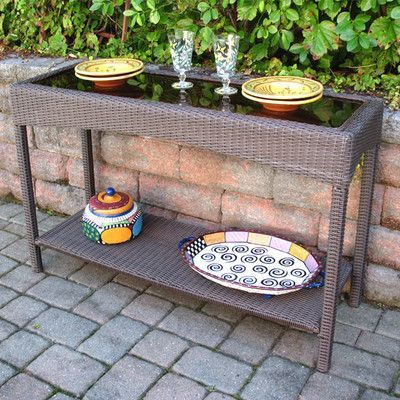 Wicker Warehouse Caribbean Console Table Finish: Coffee Brown