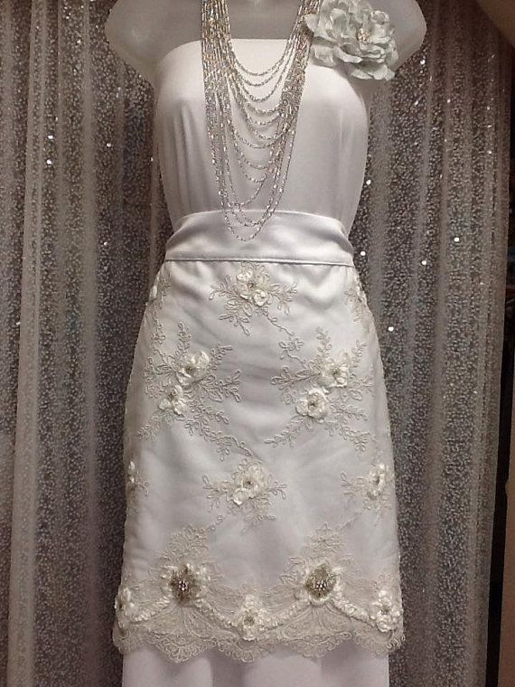 Lace Apron Wedding Dress
