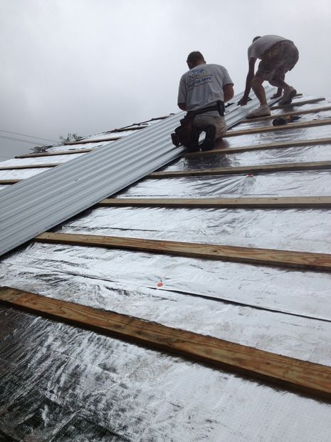 Reroofing With Corrugated Metal And Radiant Barrier Over Asphalt Shingles In 3 Steps Corrugated Metal Roof Reroofing Metal Roof Over Shingles