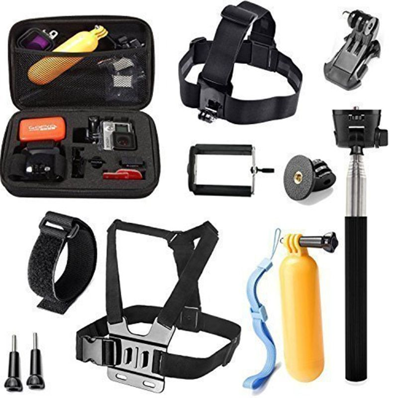 For Hero 7 Black 10 In 1 Equipment Equipment For Gopro Hero 2018 Hero 6 Hero5 Session Hero 5 Four 3 Three 2 And Hd Hero Gopro Accessory Kits Gopro Accessories