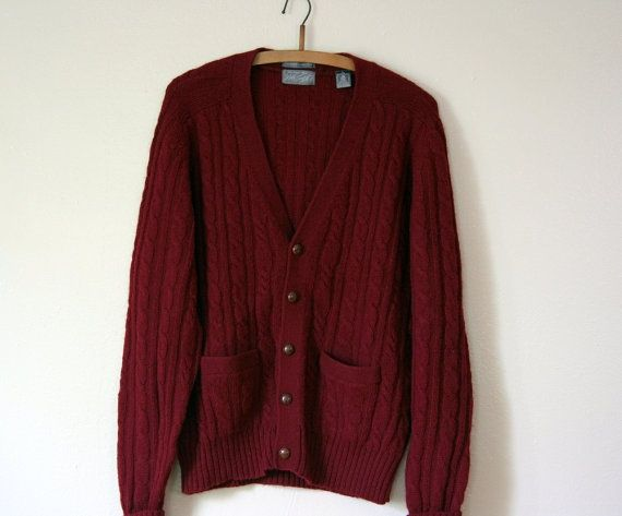 Burgundy cable knit cardigan. | Cardigans | Pinterest | Cable knit ...
