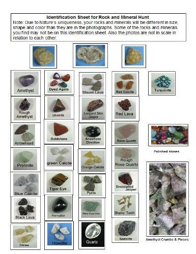 Amazon com: ROCK & MINERAL COLLECTION Kit with 2 Easy Break Geodes