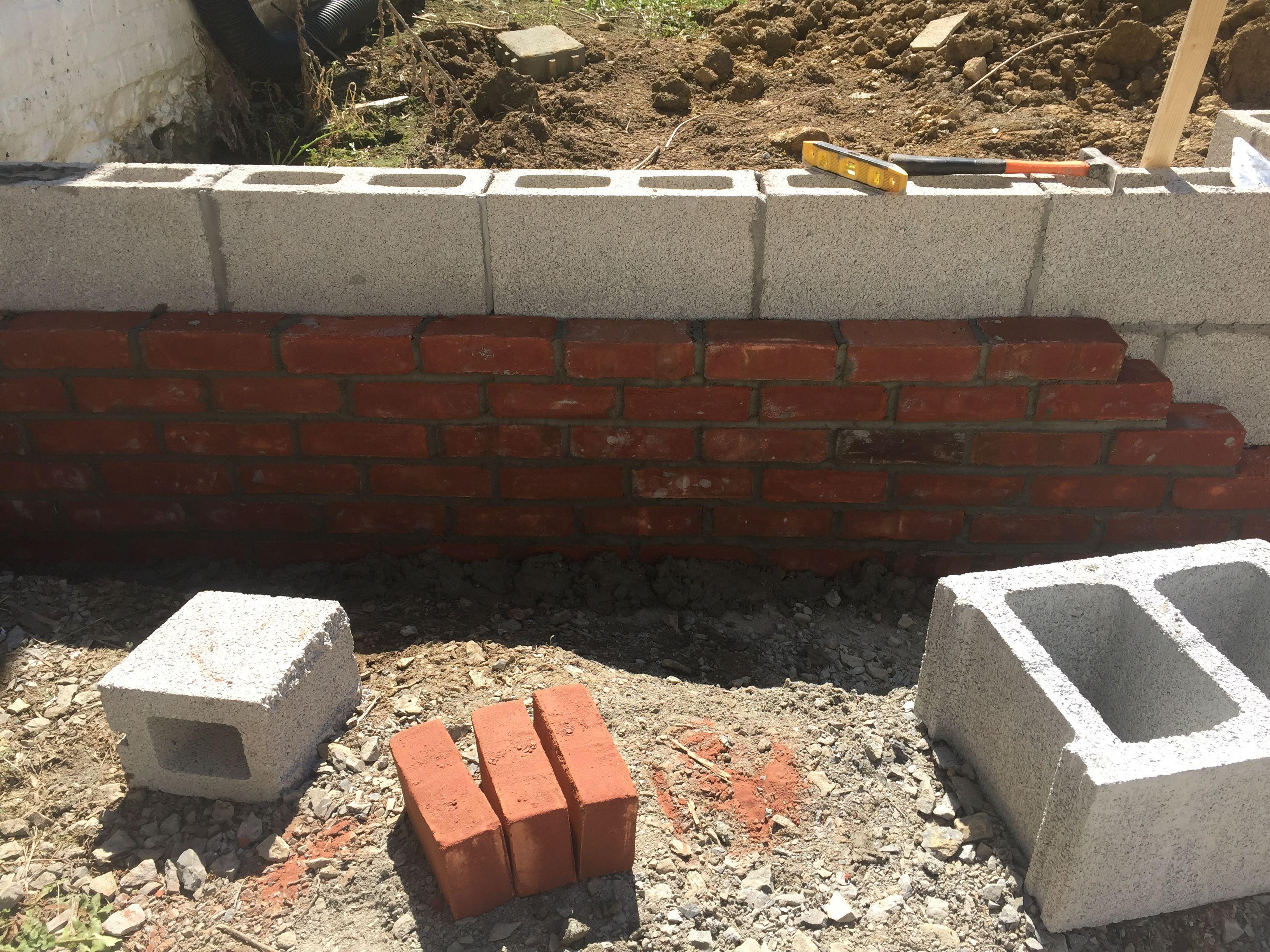 Brick Veneer Garden Walls In Progress With Images Garden