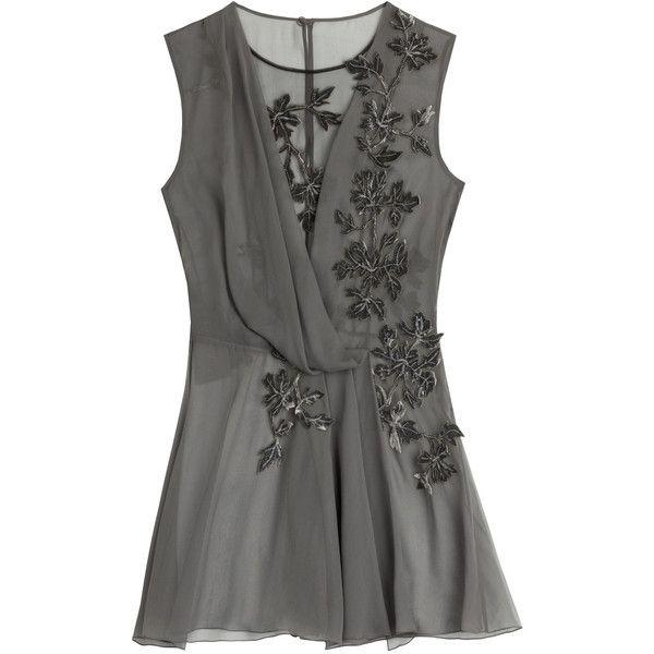 .Natalia Ives. — Alberta Ferretti Silk Chiffon Blouse ❤ liked on...