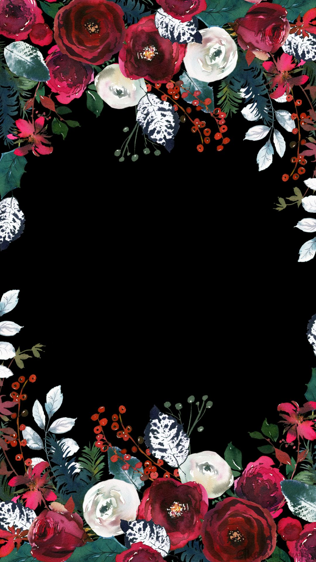 holiday wallpaper floral