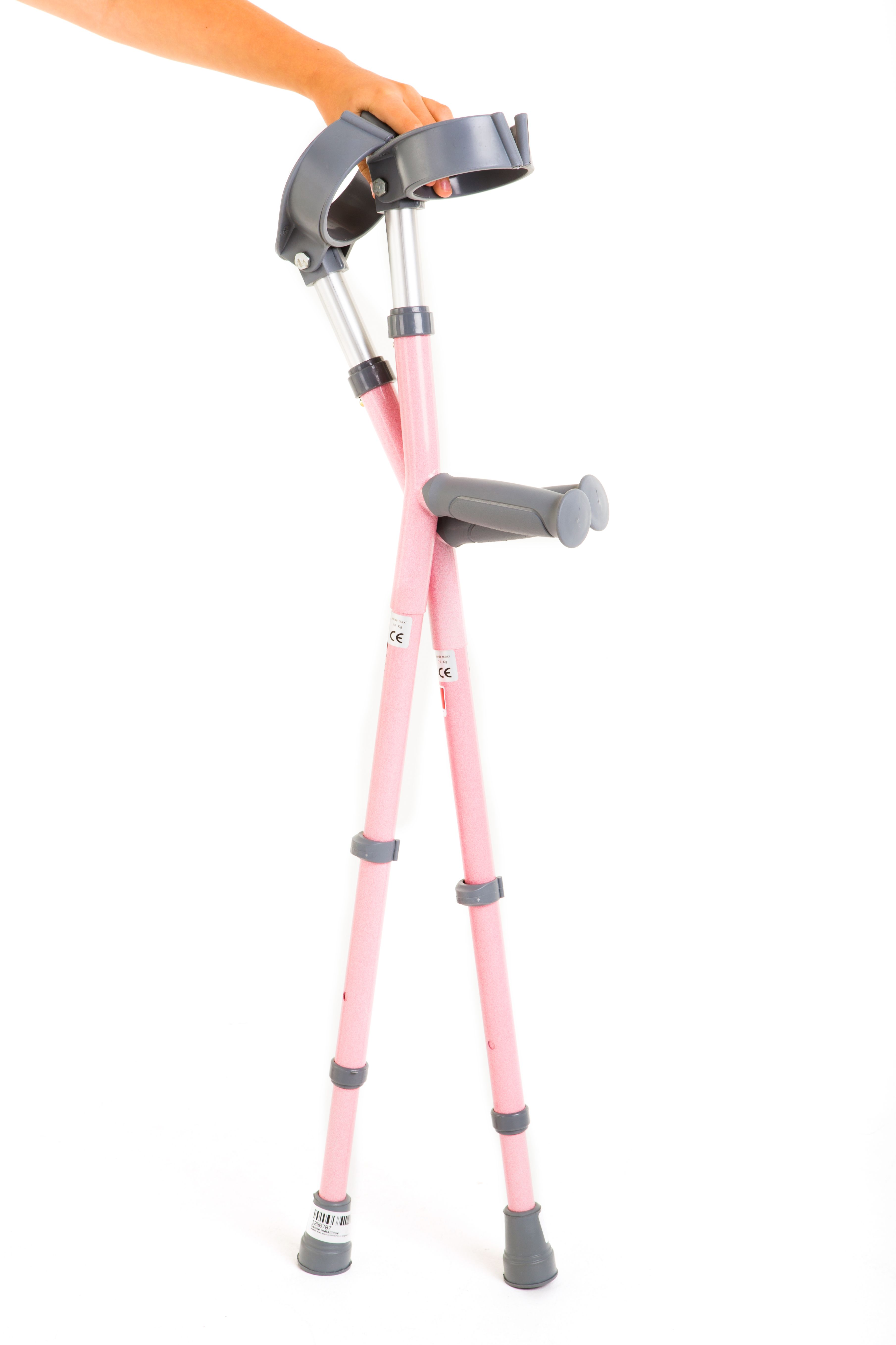 These colourful crutches really stand out from the crowd
