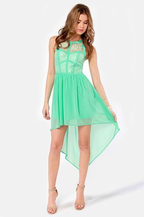 2b9331f15a866 Searching High and Low Lace Mint Green Dress   Style   Mint green ...