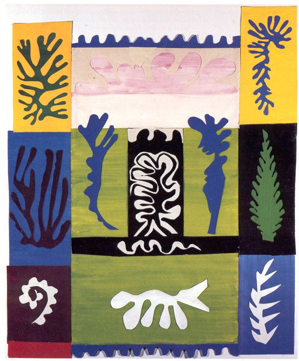 ANFITRITE, Henri Matisse  guouace on paper cut and pasted   85.5 x 70 cm.  1947